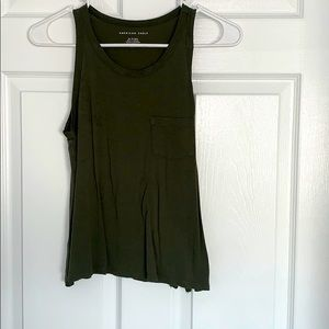 American Eagle green pocket tank top